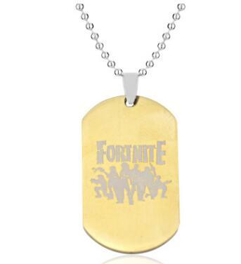 Fortnite Fortress Night Necklace Stainless Steel Suspender