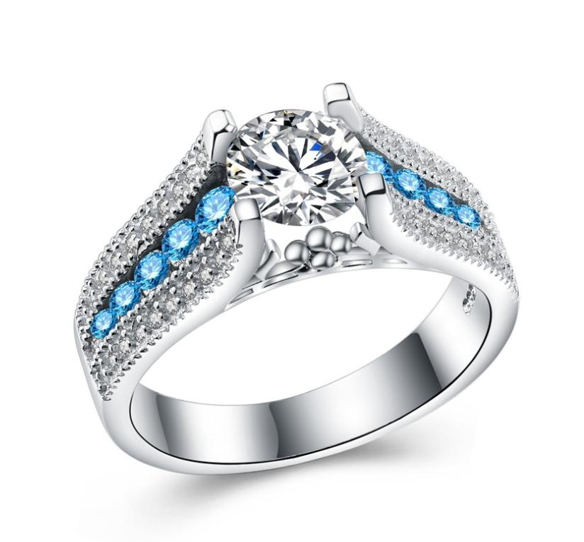 Fashionable zircon ring