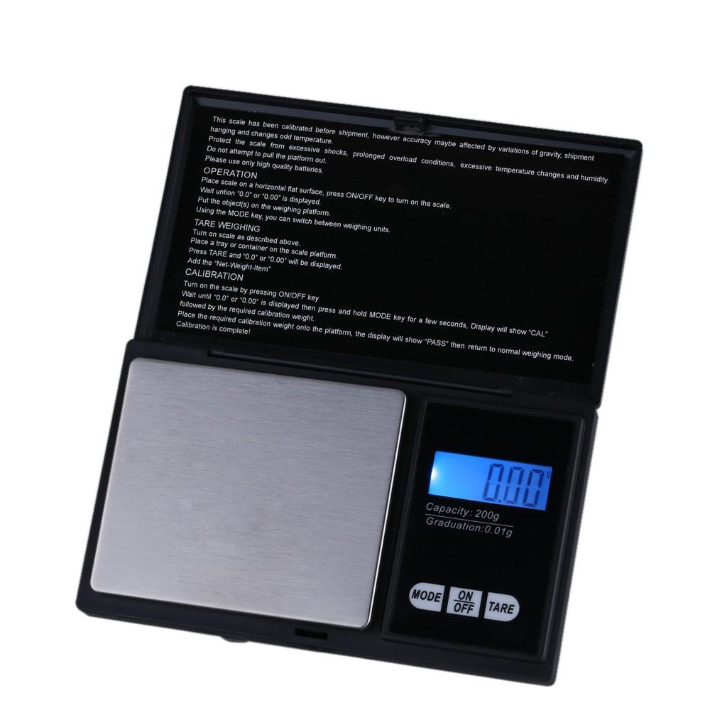 200g * 0.01g Digital Scale Professional Mini Digital Pocket Scale Jewelry Weighing Tool