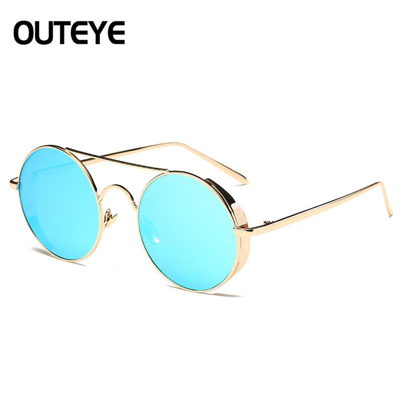 Fashion Round Metal Rim Vintage Polarized Sunglasses Glasses Retro Women Men