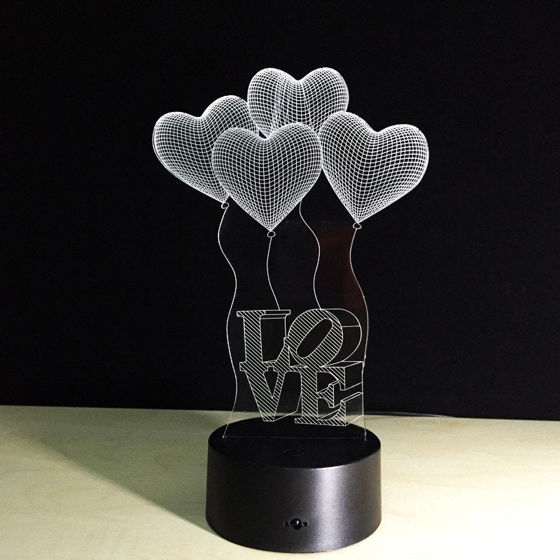 3D LED Heart balloon Lamp