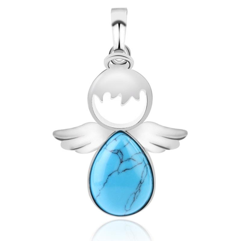 Water Drop Angel Necklace Pendant