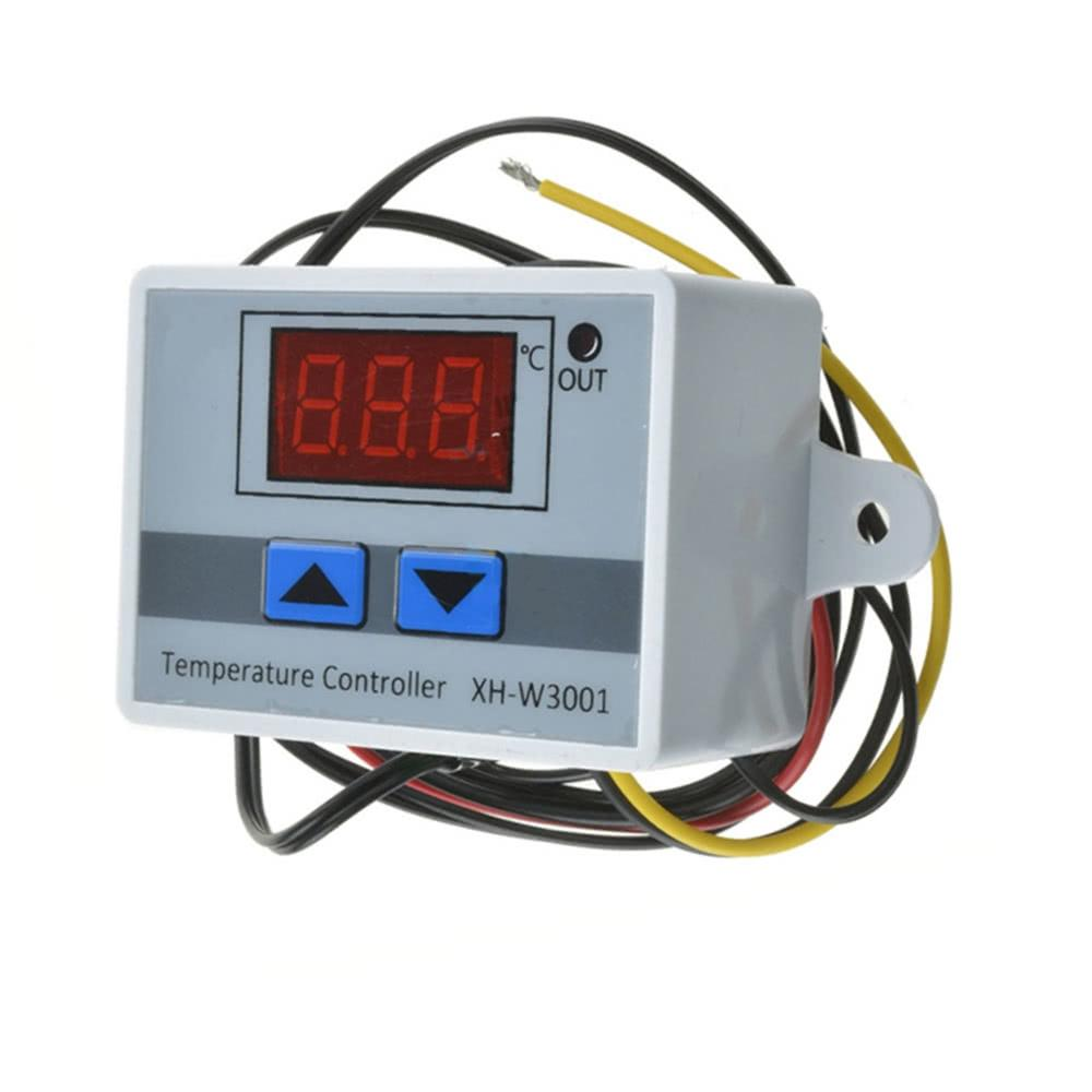 XH-W3001 Digital LED Pre-wire Cool/Hot Temperature Controller Thermostat Control Switch Probe with Sensor 220V/24V/12V