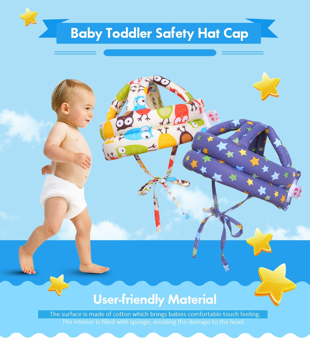 Baby Toddler Safety Hat Cap Cotton Sponge with Strap Protection