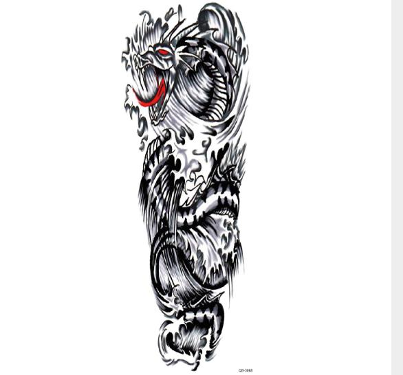 Original large picture flower arm f waterproof tattoo sticker Personality beautiful simple and convenient durable tattoo stickers custom