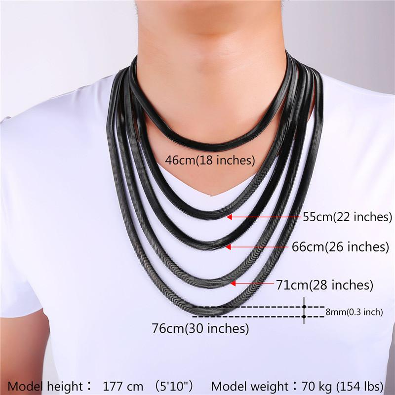 Titanium steel necklace snake bone chain