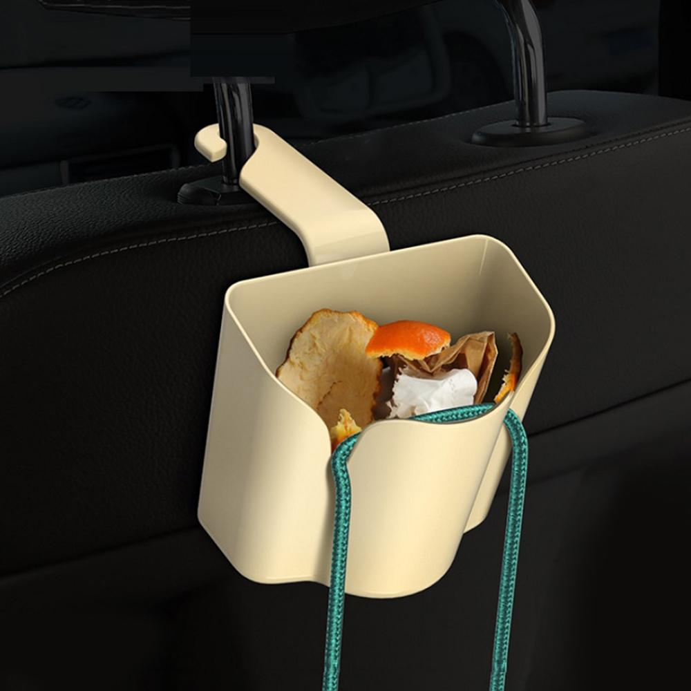 Multi-use Car Seatback Storage Box Premium Plastic Material with Hanging Hook