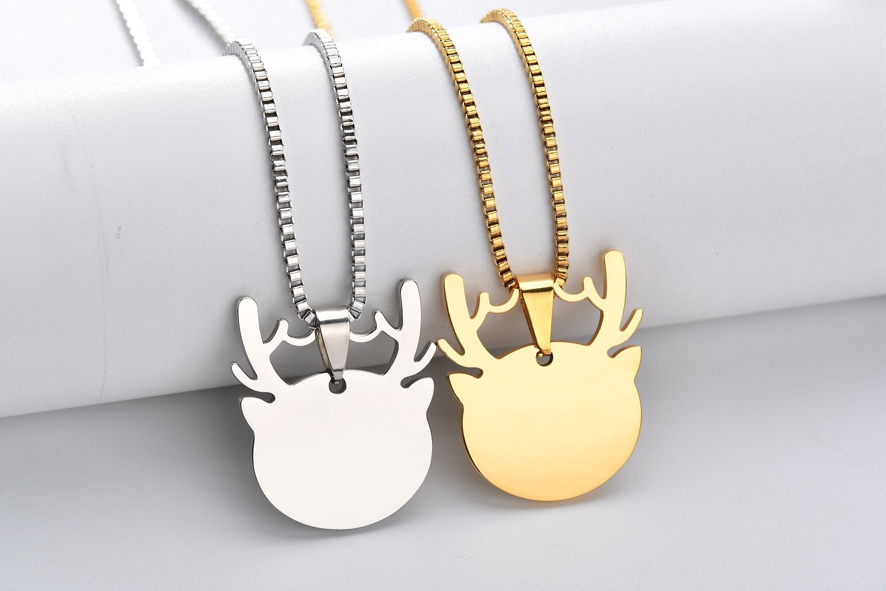 Cute antlers can be labeled military dog tag pet cards