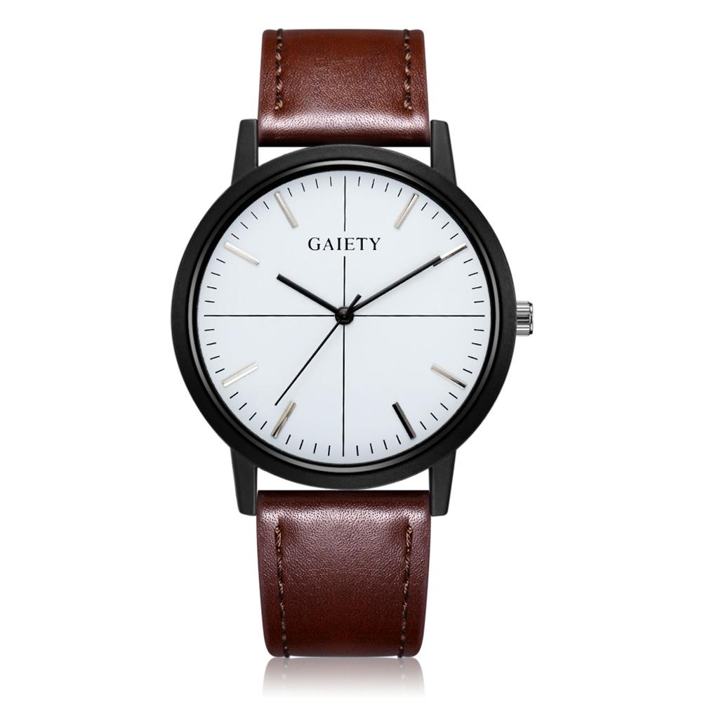 GAIETY G488 Men's Leather Business Watch