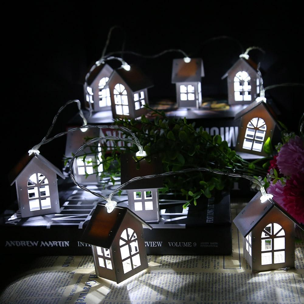 House Shaped USB LED String Light Room Decoration Lamp for Christmas New Year Wedding Party