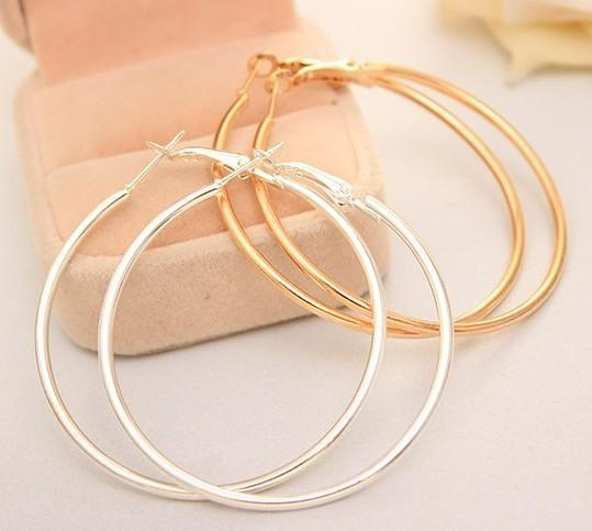 Big Circle Metal Exaggerated Circle Earrings Circle Geometry Earrings
