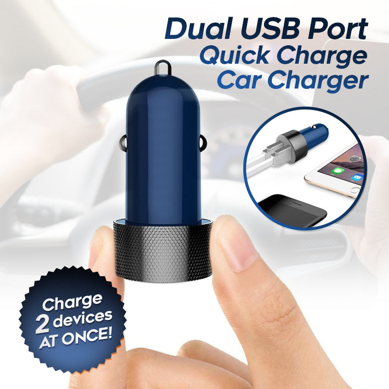 Dual USB Charger For Car