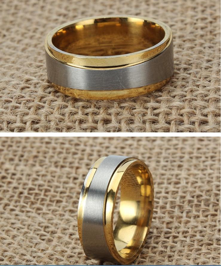 Titanium Steel Ring Fashion Diamond Stainless Steel Ring Couple Ring