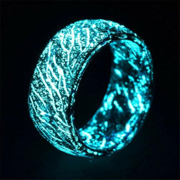 Cool Luminous Crackle Ring