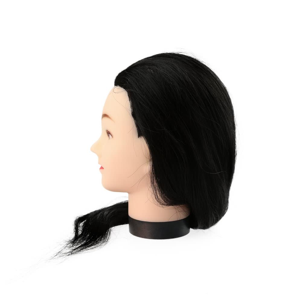 "23"" Black Hairdresser Training Head Dummy Model with Long Hair"