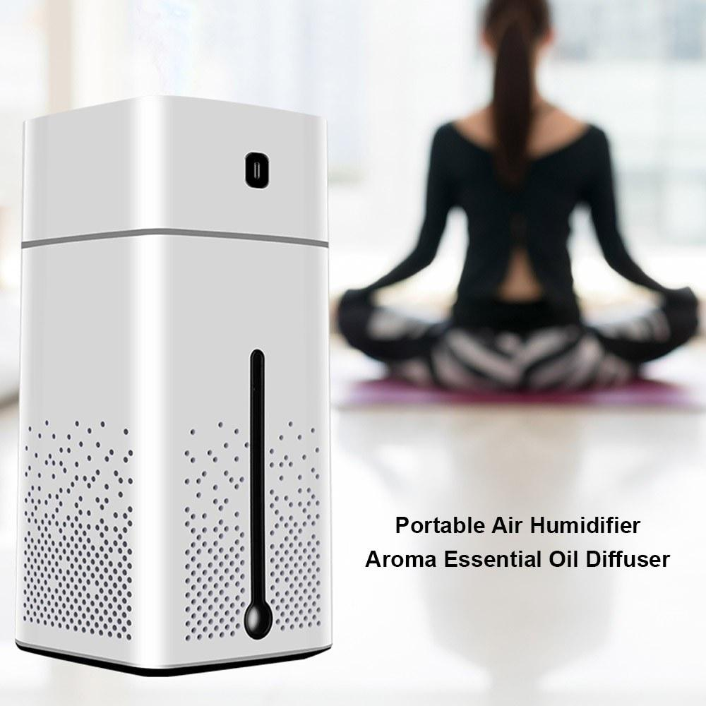 1000ml USB Portable Air Humidifier Aroma Essential Oil Diffuser Atomizer Ultrasonic Humidifier with 7 color LED Light Aromatherapy for Car Home Office