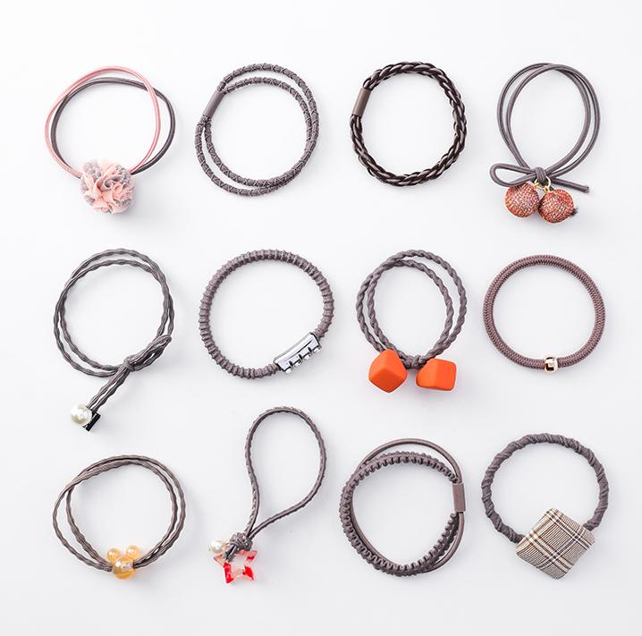 12-piece hair rope set Mori bow hair accessories hair band elastic rubber band apron rope