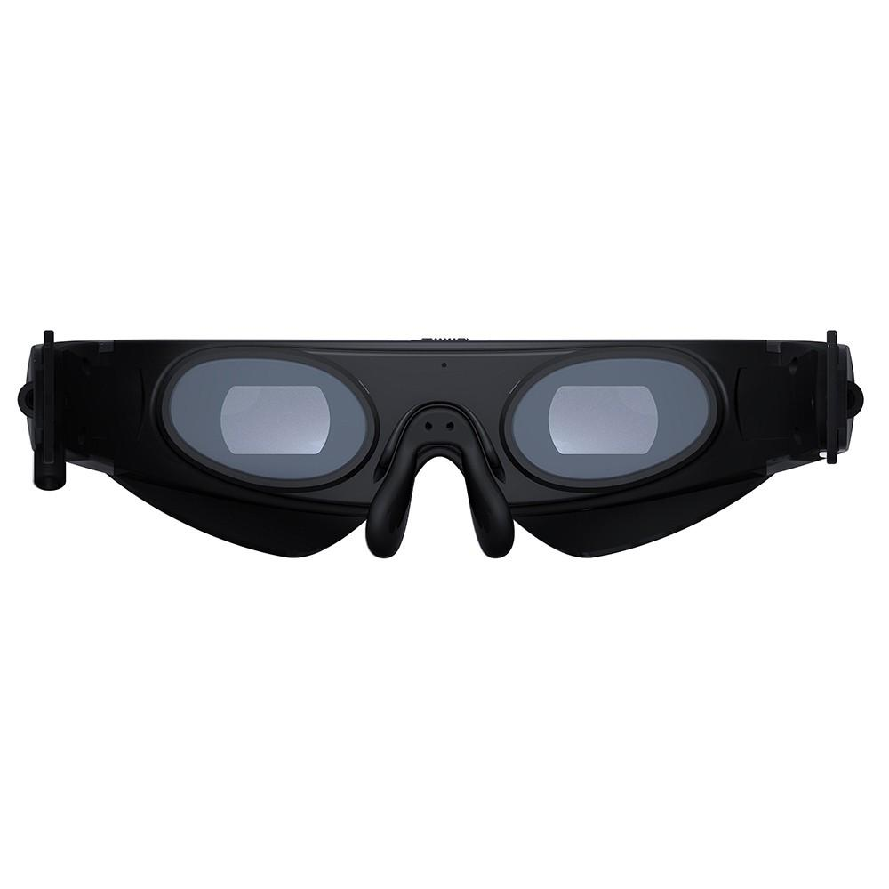 922A Head-Mounted Display FPV Glasses 80 Inches Virtual Wide Screen Smart Video Glasses AV Input for Blu-ray DVD Player Drones MP5 PS3 XBOX TV Other Digital Devices with AV Output Black US Plug