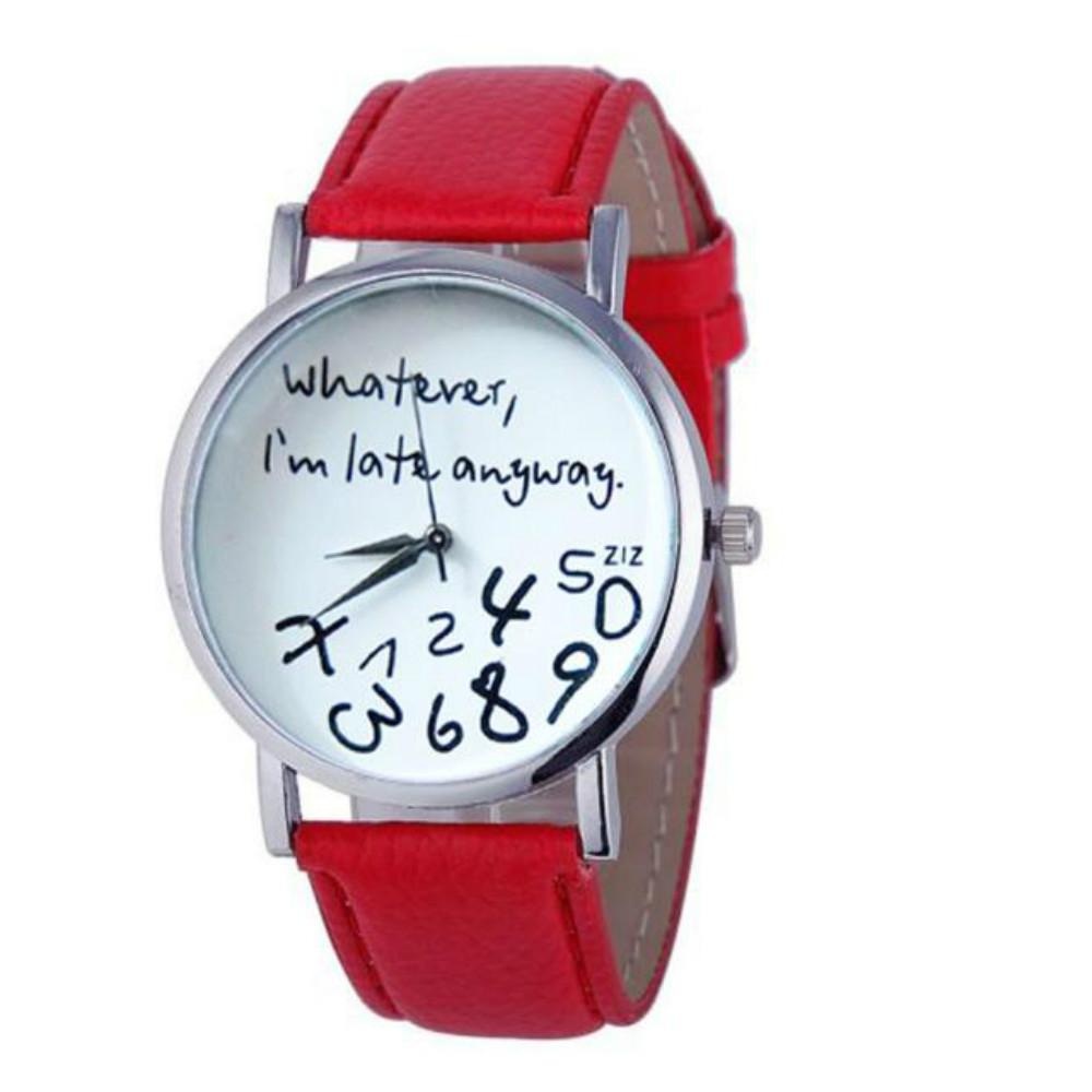New Fashion Lady Harajuku Letters Quartz Watch