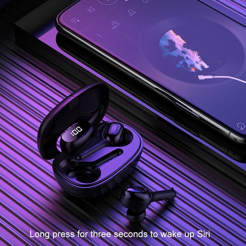 T9S TWS Earbuds Wireless Stereo Sound Earphones Bluetooth 5.0 In-ear Headphones Sports Headset Noise Reduction with Charging Box