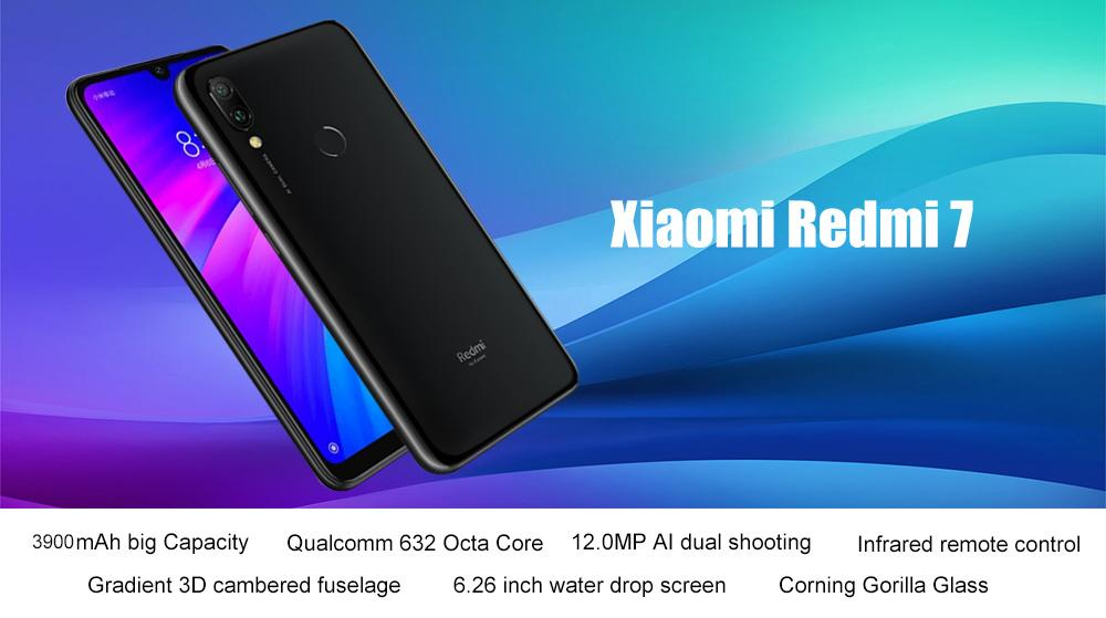 Xiaomi Redmi 7 4G Phablet 6.26 inch Android 9.0 Qualcomm 632 Octa Core 1.8GHz 2GB RAM 16GB ROM 12.0MP + 2.0MP Rear Camera Fingerprint Sensor 3900mAh Built-in