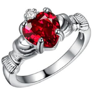 Plated 925 Sterling Silver Jewelry New Jewelry Ring Wish Best Buy Europe and America Heart Shape Jewelry Wholesale