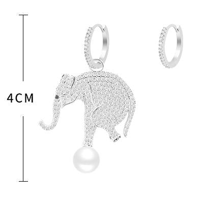 Euro-American fashion people asymmetric ear nails series flying piglets interesting Earrings temperament small devil pure silver eardrop*