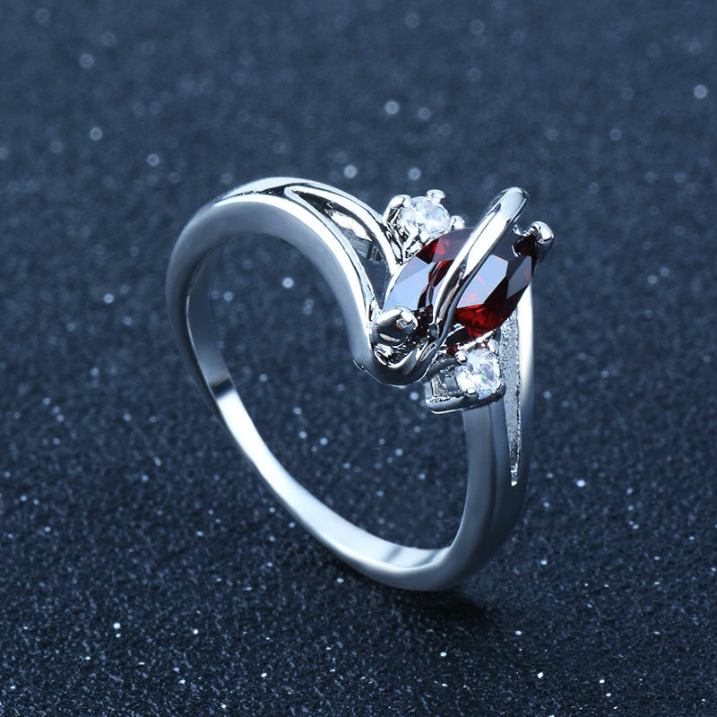 Oval Cubic Zirconia Fashion Ring