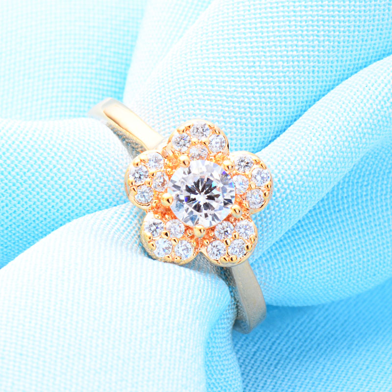 Blooming Cubic Zirconia Ring