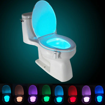 LED Motion-activated Toilet Nightlight