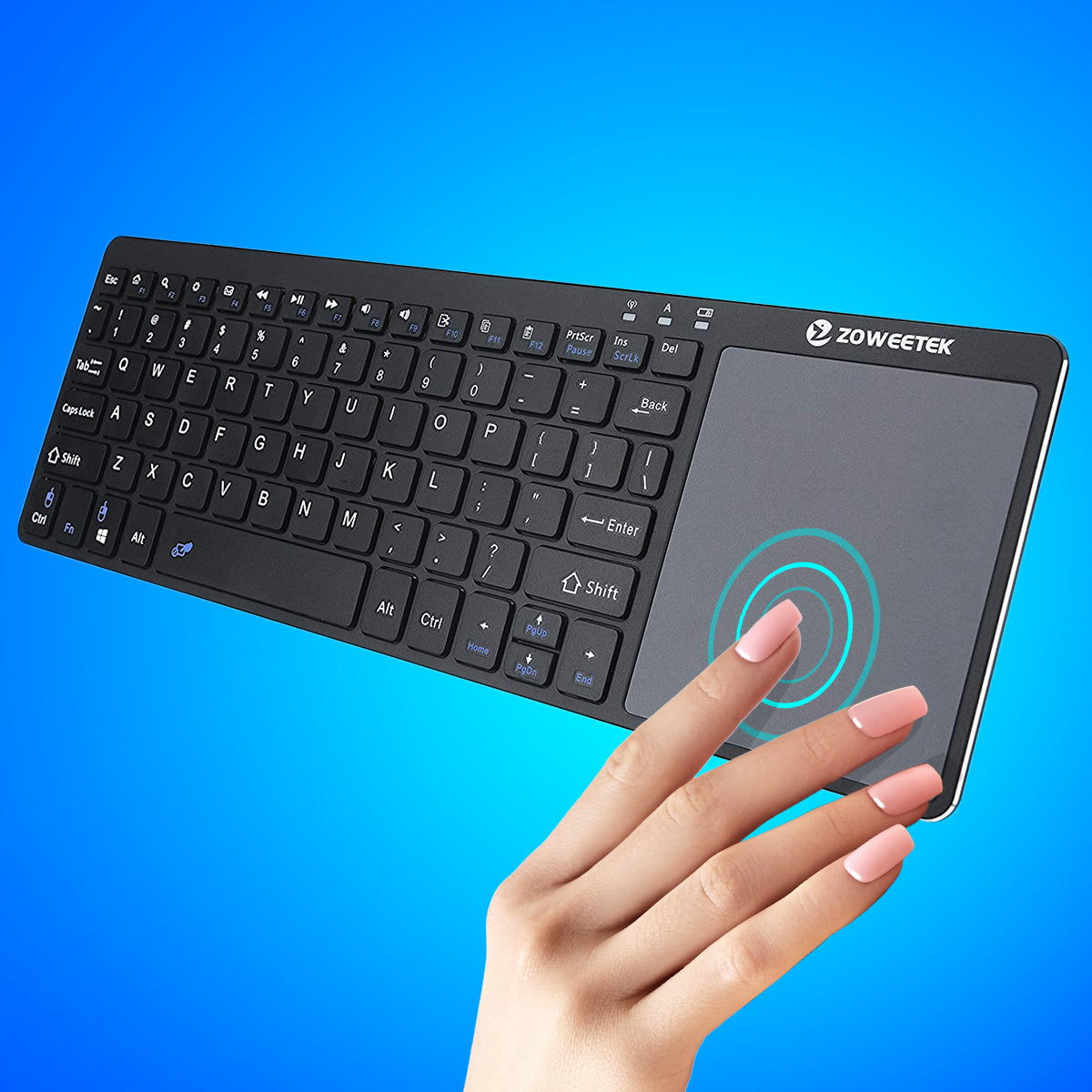 Wireless Bluetooth Keyboard Touchpad
