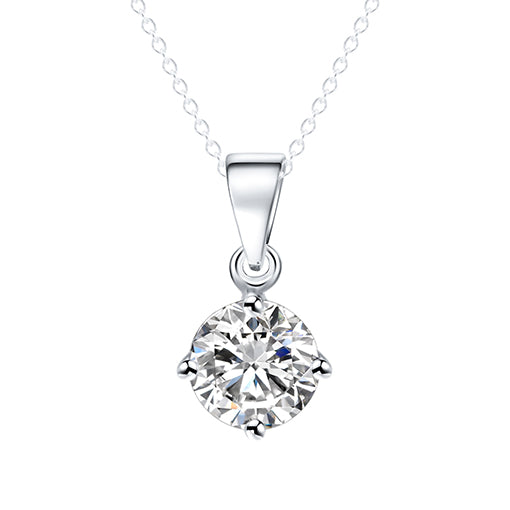 Brilliant Cubic Zirconia Pendant Necklace
