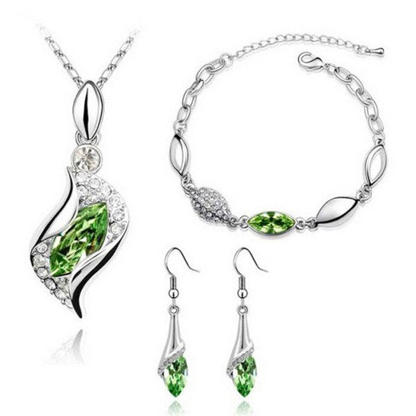Twisted Teardrop Austrian Crystal Set