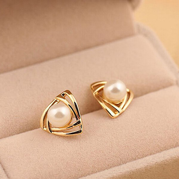 Egyptian Pearl Stud Earrings