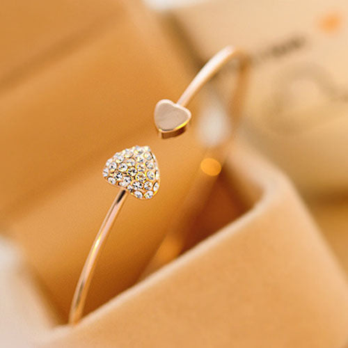 Rhinestone Sweetheart Bangle