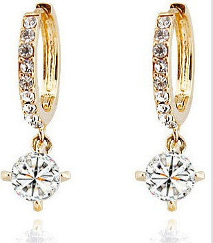 Crystal Star Hoop Earrings