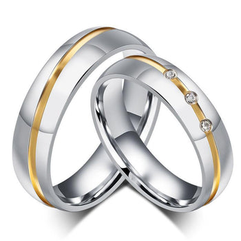 Lover's Silver-gold Ring