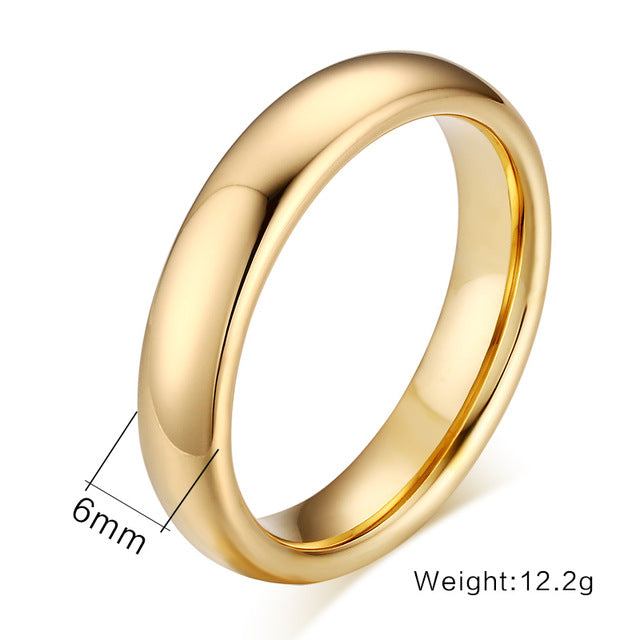 Classic Tungsten Carbide Lover's Rings