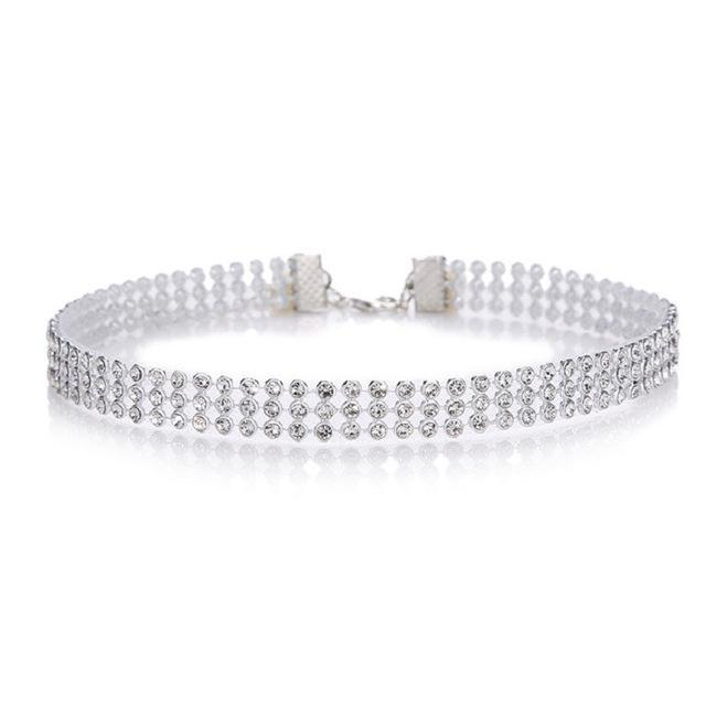 Big Crystal Choker Necklace