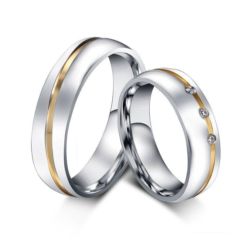 Titanium Lovers matching Rings