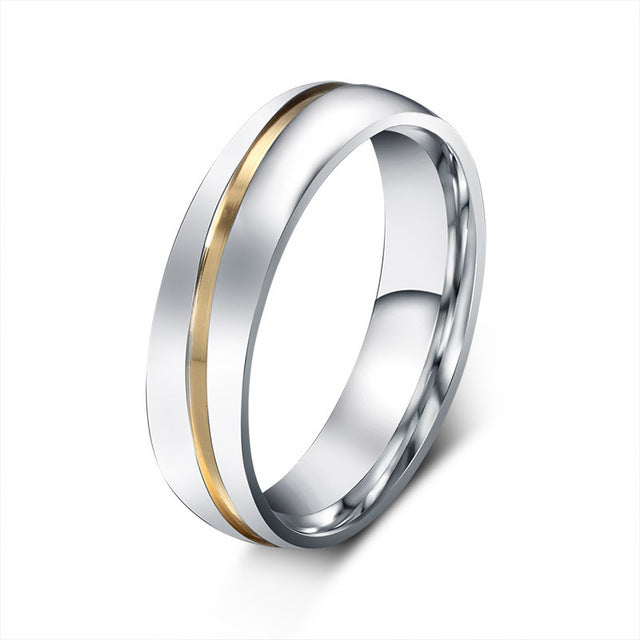 Titanium Lovers Wedding Ring