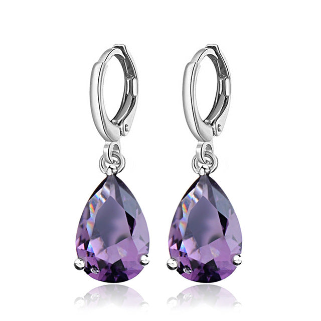 Cubic Zirconia Big Drop Crystal Earrings
