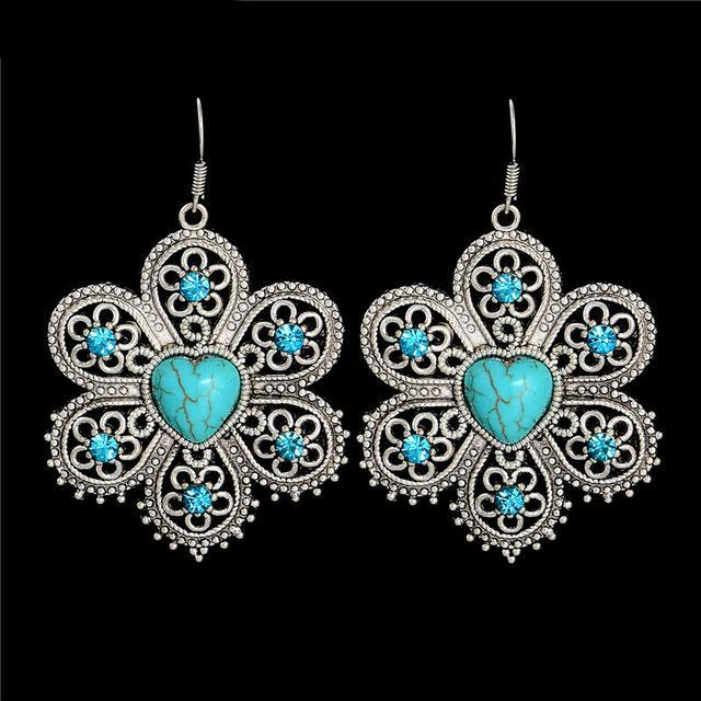 Vintage Tibetan Royal Drop Earrings