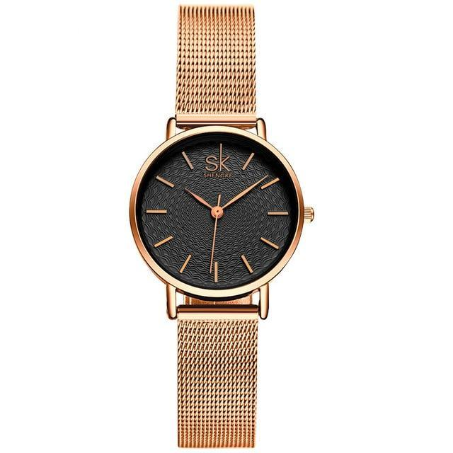 Ladies Slim Mesh Stainless Steel Watch