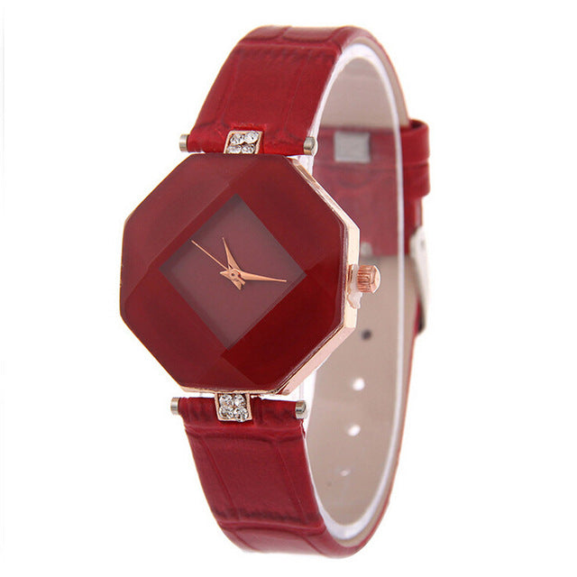 Rhinestone Pointed Ladies Fashion Watch