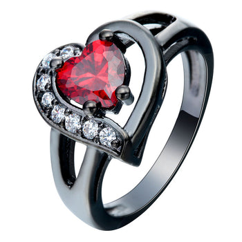 Big Heart Cubic Zirconia Ring