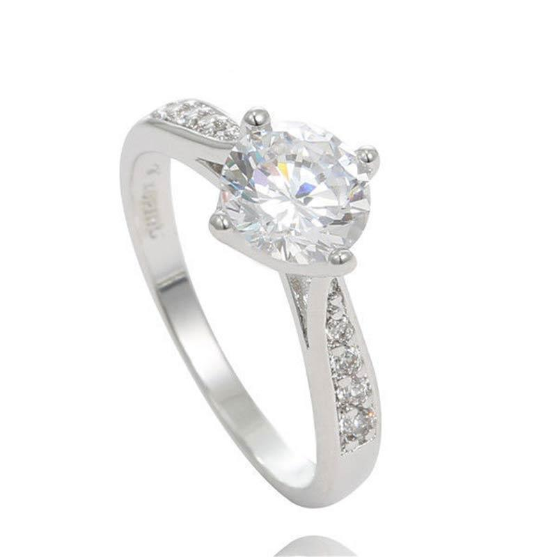 Classic White Crystal Ring