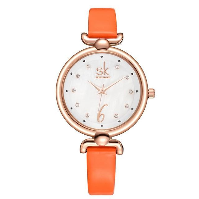 Elegant Crystal Dial Ladies Watch