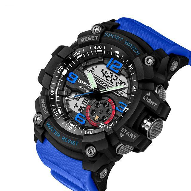 Military Sport Watch With Electronic LED Digital