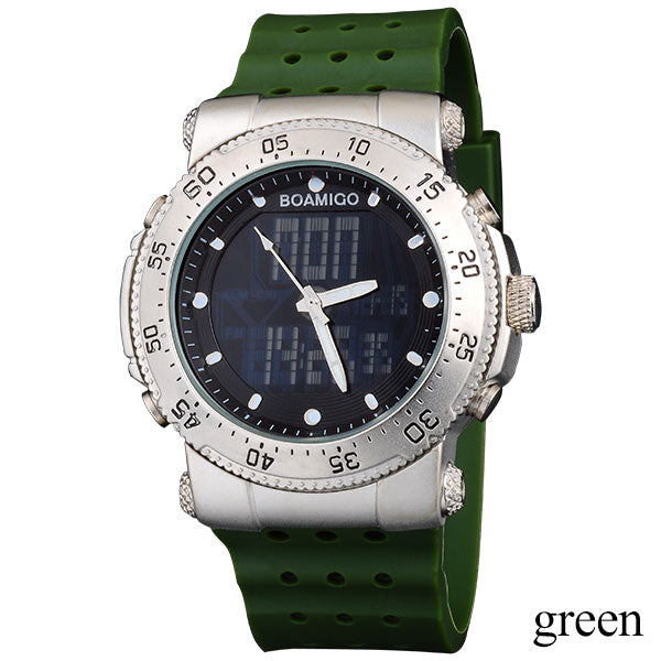 Men Quartz Analog Digital LED Wristwatch